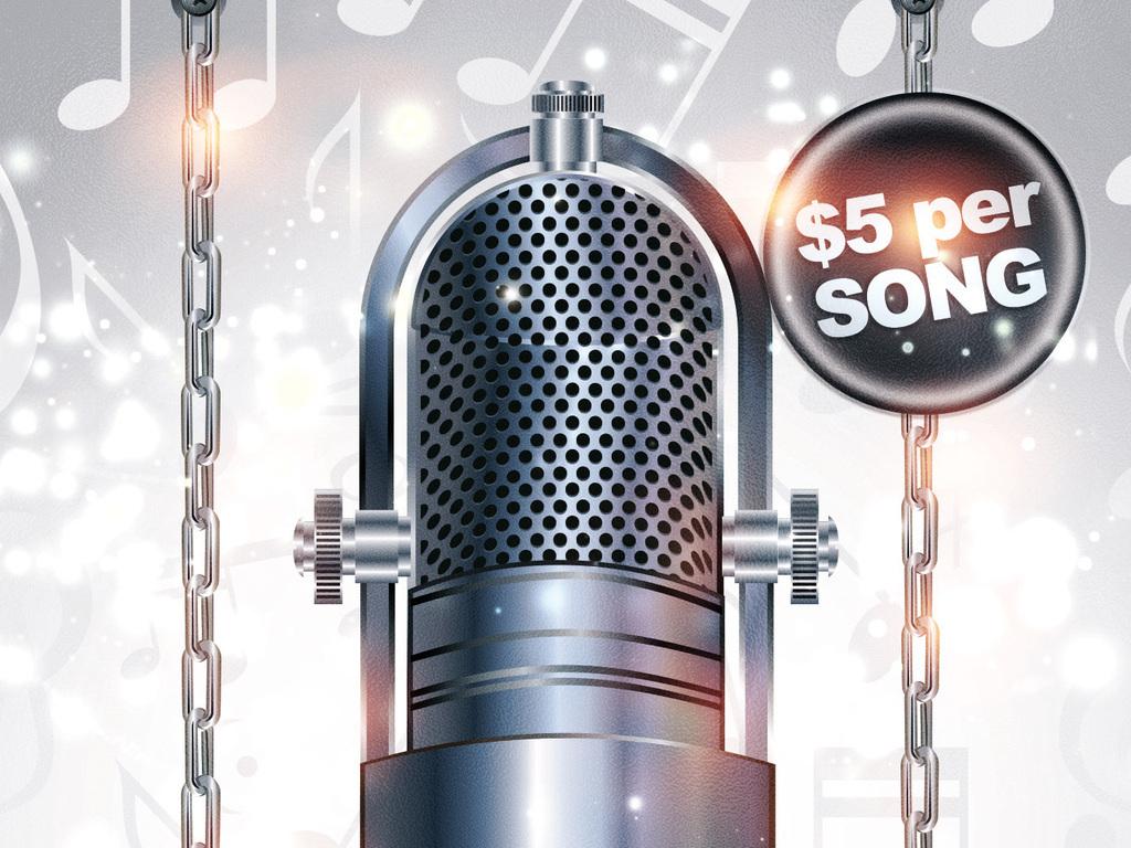 震撼麦克风ktv卡拉ok歌手大赛宣传海报