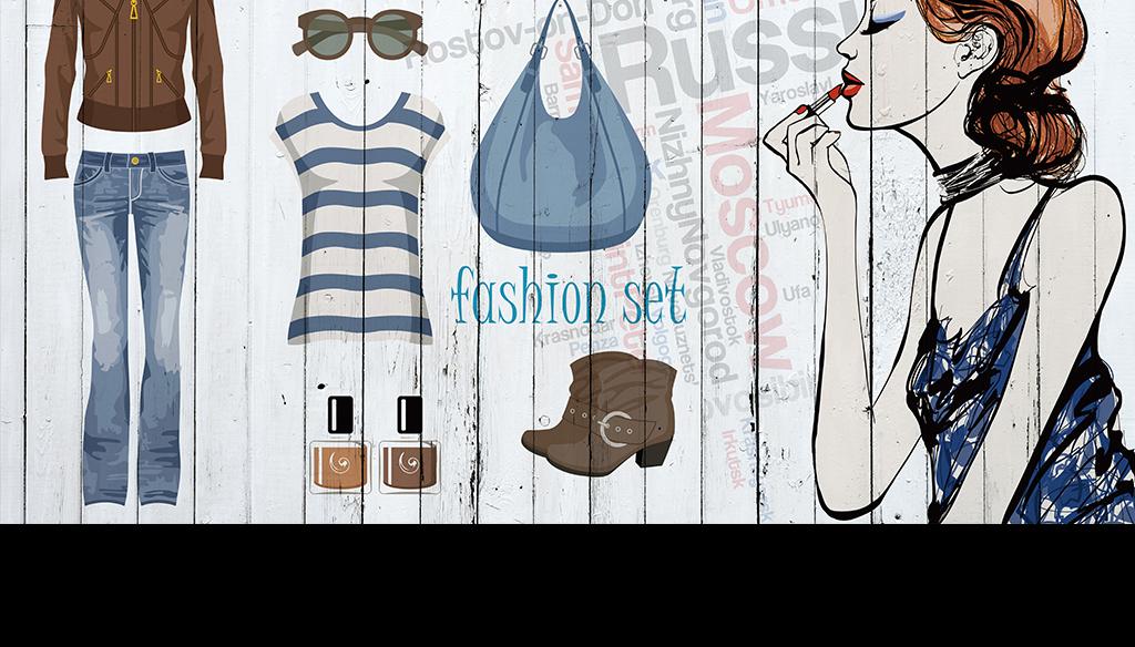 复古风格欧式风格女装店背景墙style时装店时尚服装