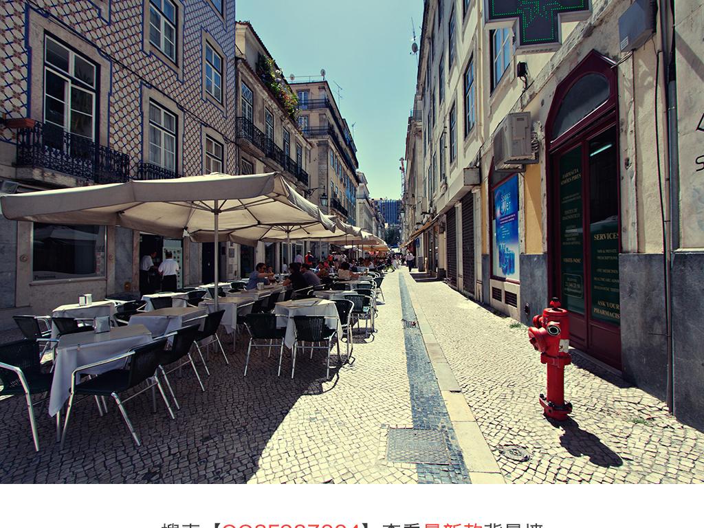 欧式城市街道背景墙
