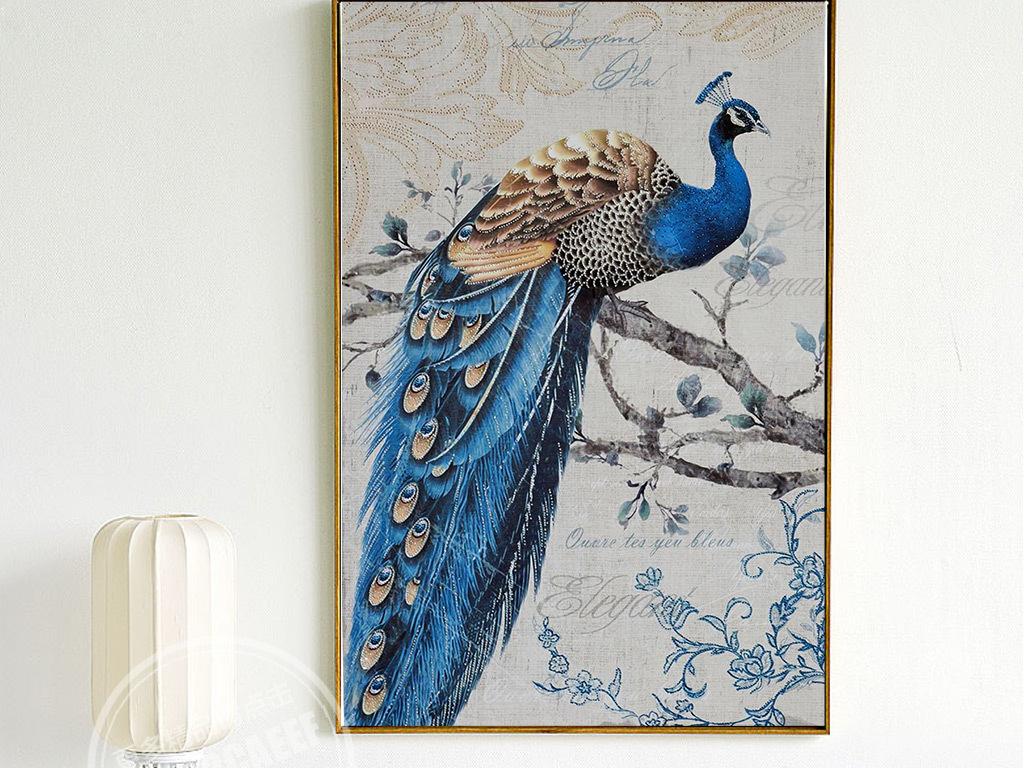 墙画壁画装饰画欧美风格酒店会所花瓶复古背景欧式图片