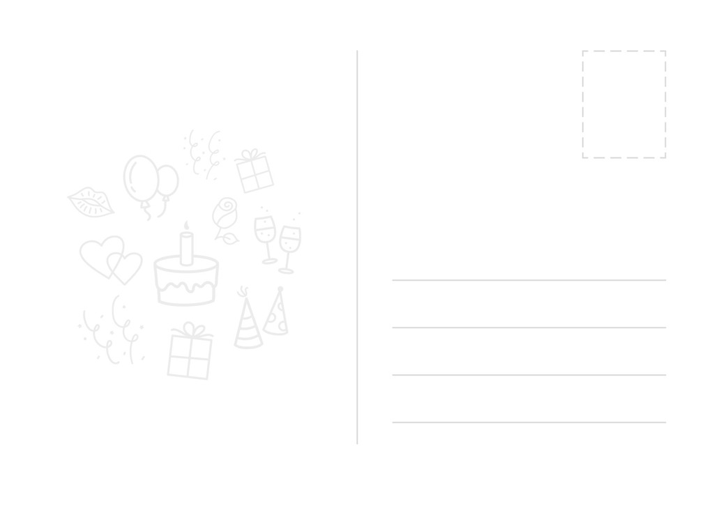 设计作品简介: 简约可爱手绘生日贺卡海报psd模板 位图, cmyk格式高清