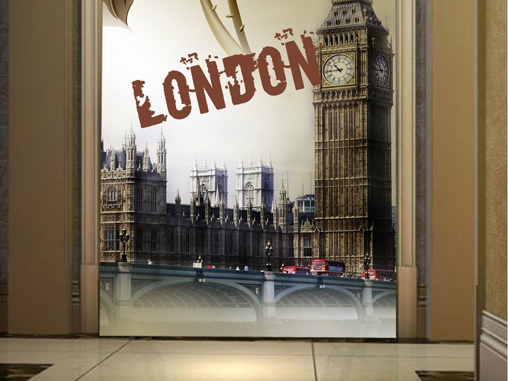 英伦风建筑手绘图片