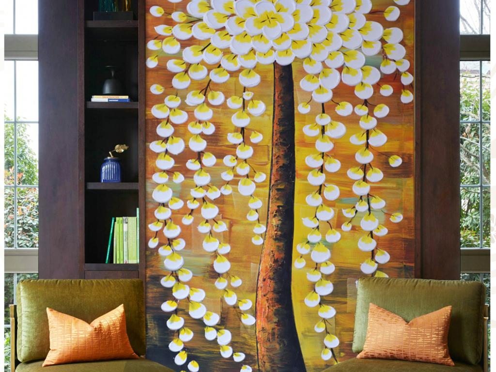 窗帘卧室艺术手绘艺术卧室电视背景墙图片卧室装饰画卧室效果图卧室