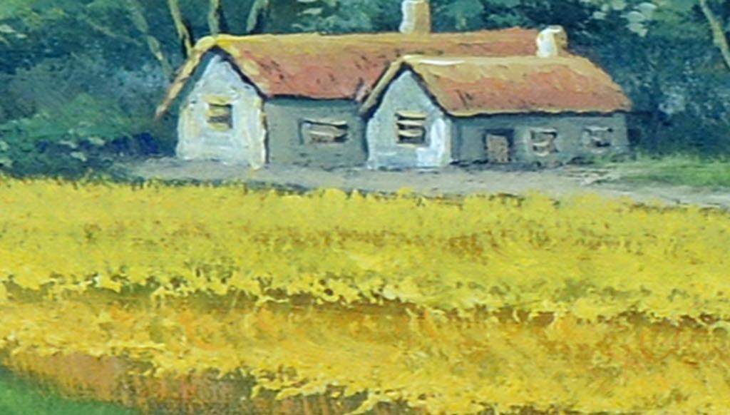 郊外平原欧洲油画人物油画油画风景欧式油画手绘油画高清油画人体油画