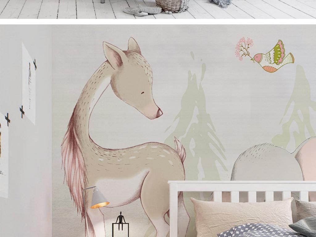 唯美鹿图片手绘梦幻