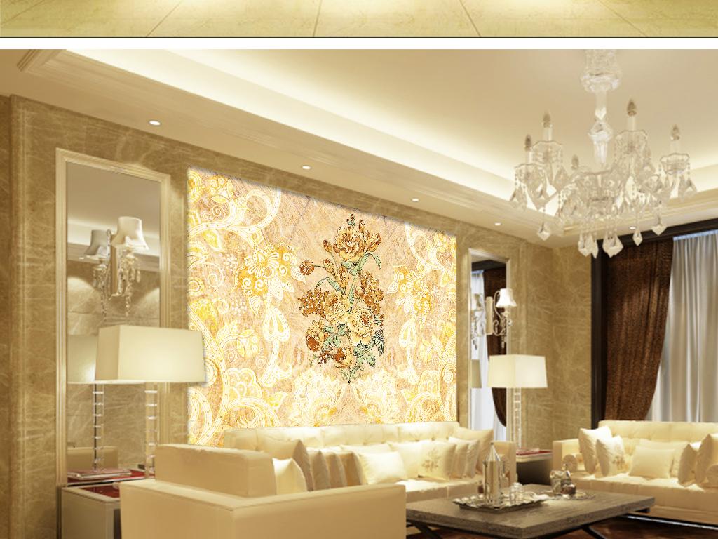 背景欧式花纹墙纸欧式古典花纹矢量图欧式花纹边框