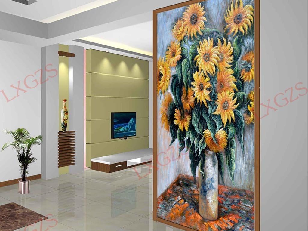 装饰画形象墙油画花卉欧式花卉静物玄关