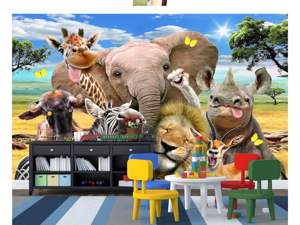 我图网提供精品流行可爱卡通草原一群动物自拍像儿童房背景墙素材下载,作品模板源文件可以编辑替换,设计作品简介: 可爱卡通草原一群动物自拍像儿童房背景墙 位图, RGB格式高清大图,使用软件为 Photoshop CS3(.psd)