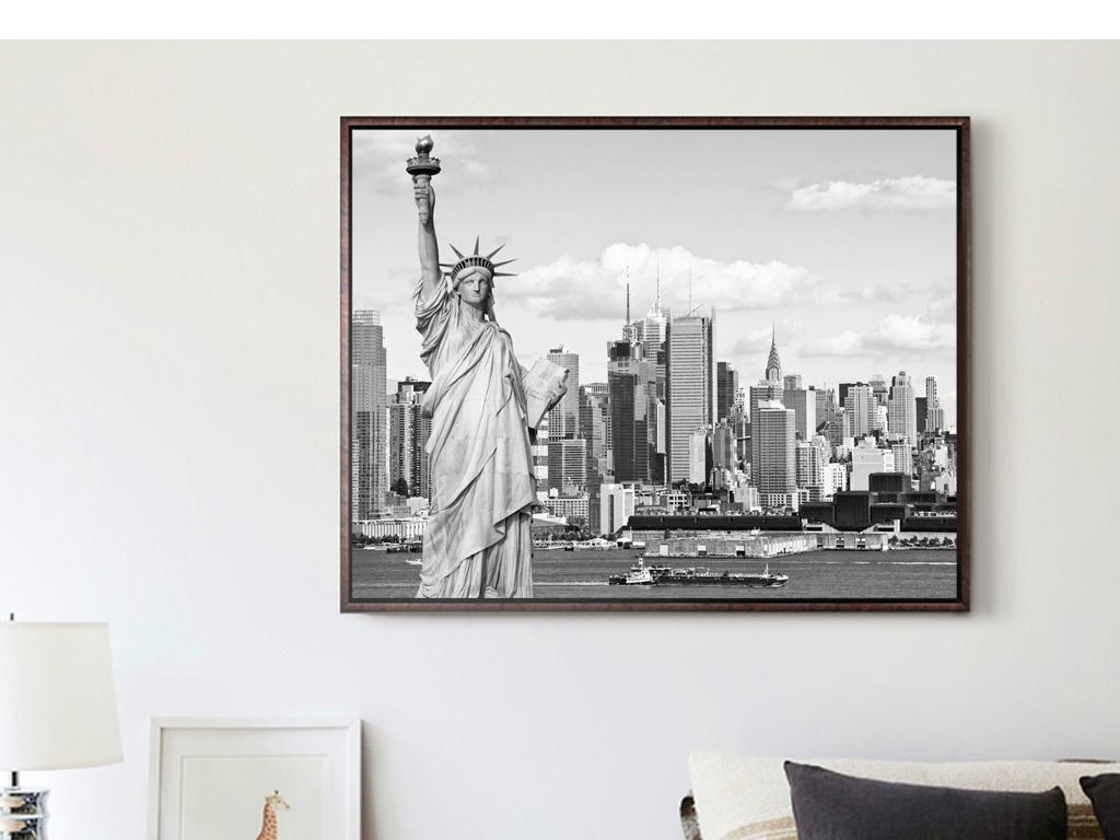 黑白建筑风景风景建筑室内装饰画人物装饰画抽象装饰