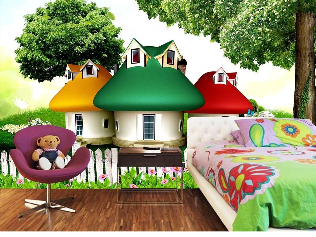 卡通房子颜色搭配图片