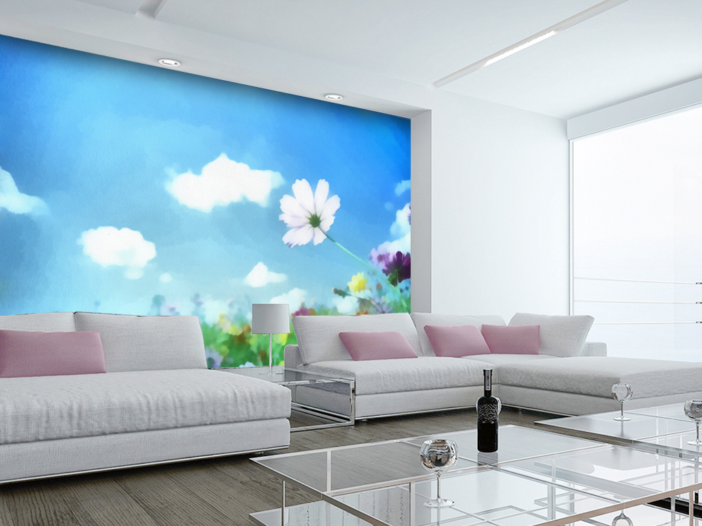 室内墙体画图片手绘风景