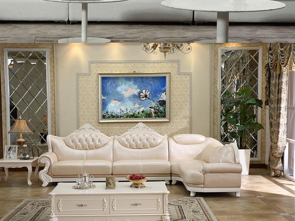 背景墙 装饰画 油画 抽象油画