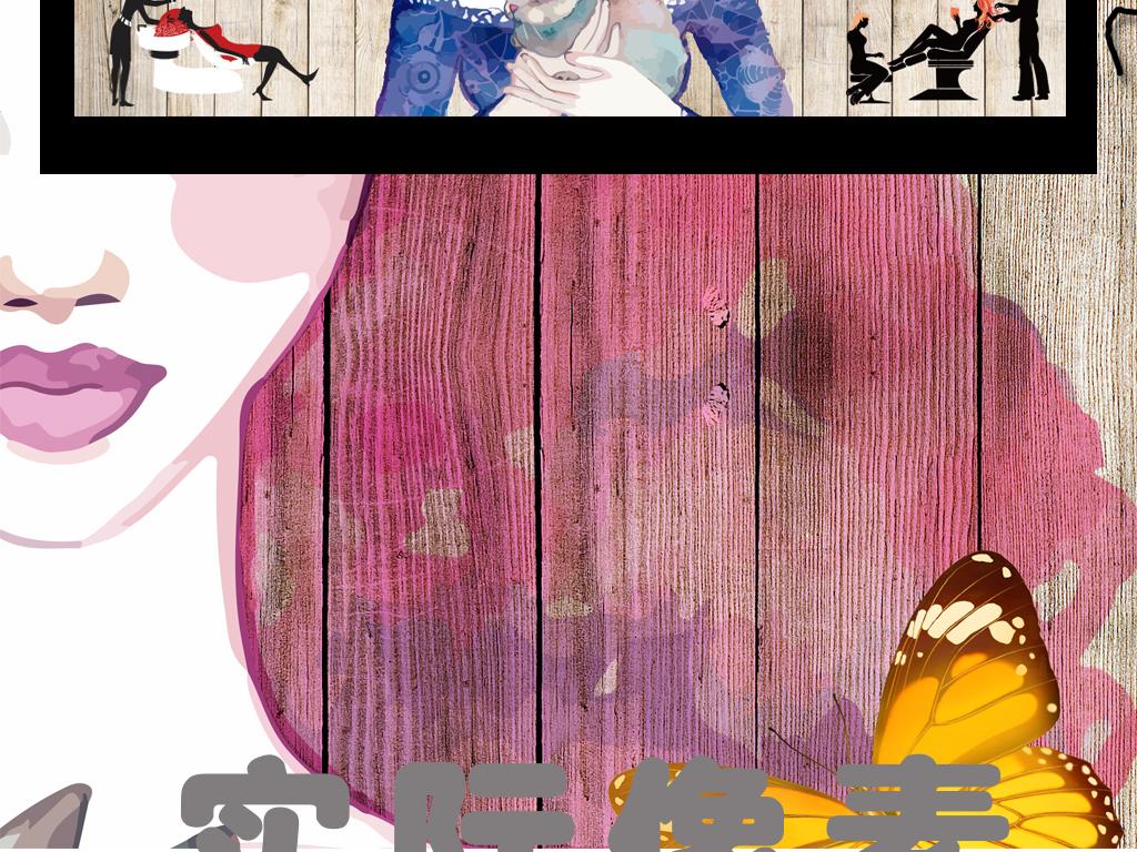欧式美甲壁纸图片