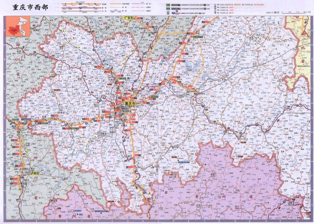 重庆市地图高清版全图