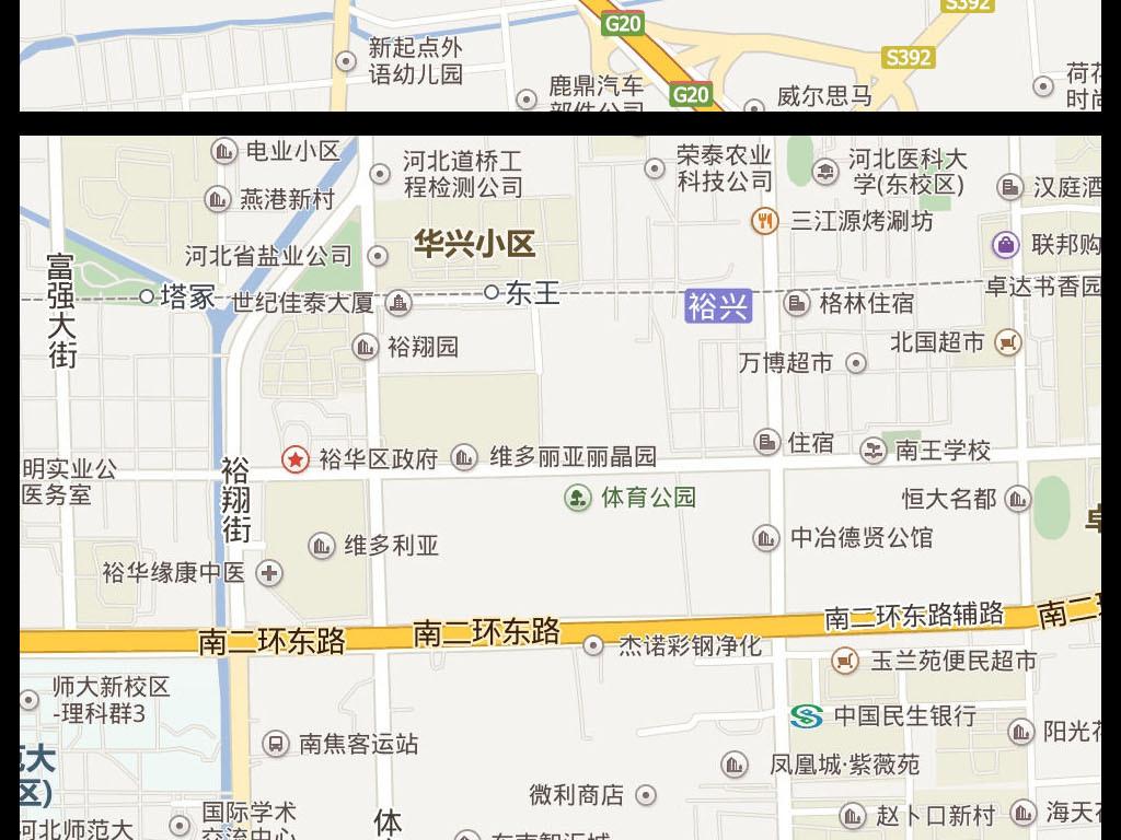 2016高清石家庄市地图电子地图图片