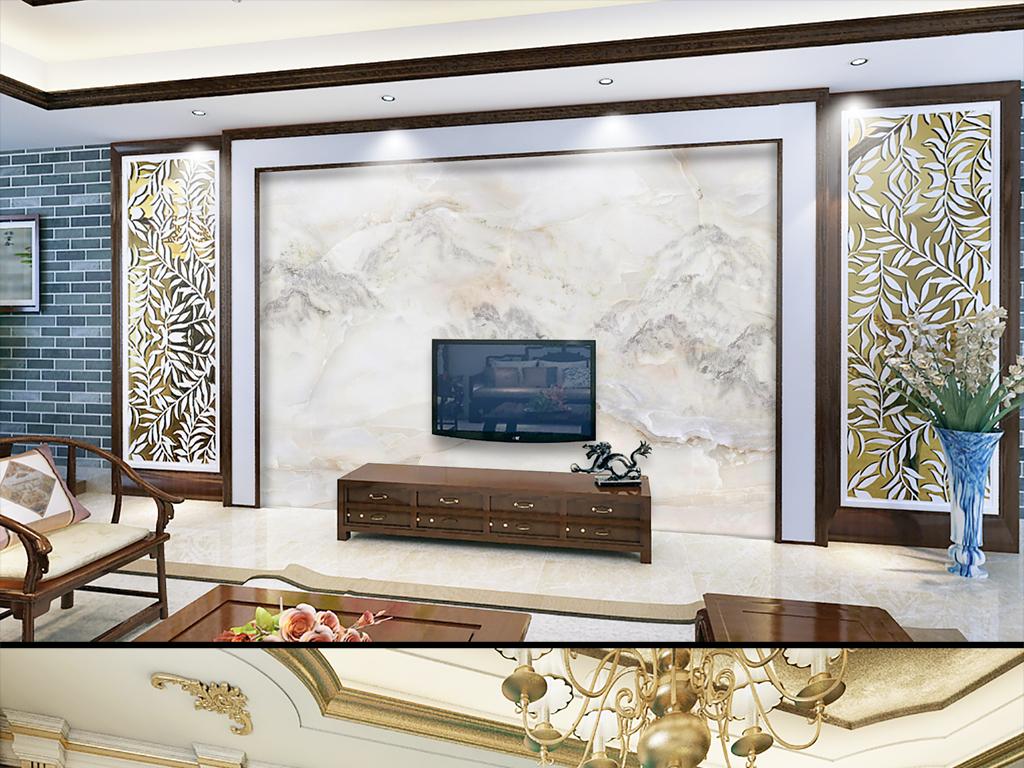 欧式现代背景大理石电视背景墙大理石背景墙图大理石