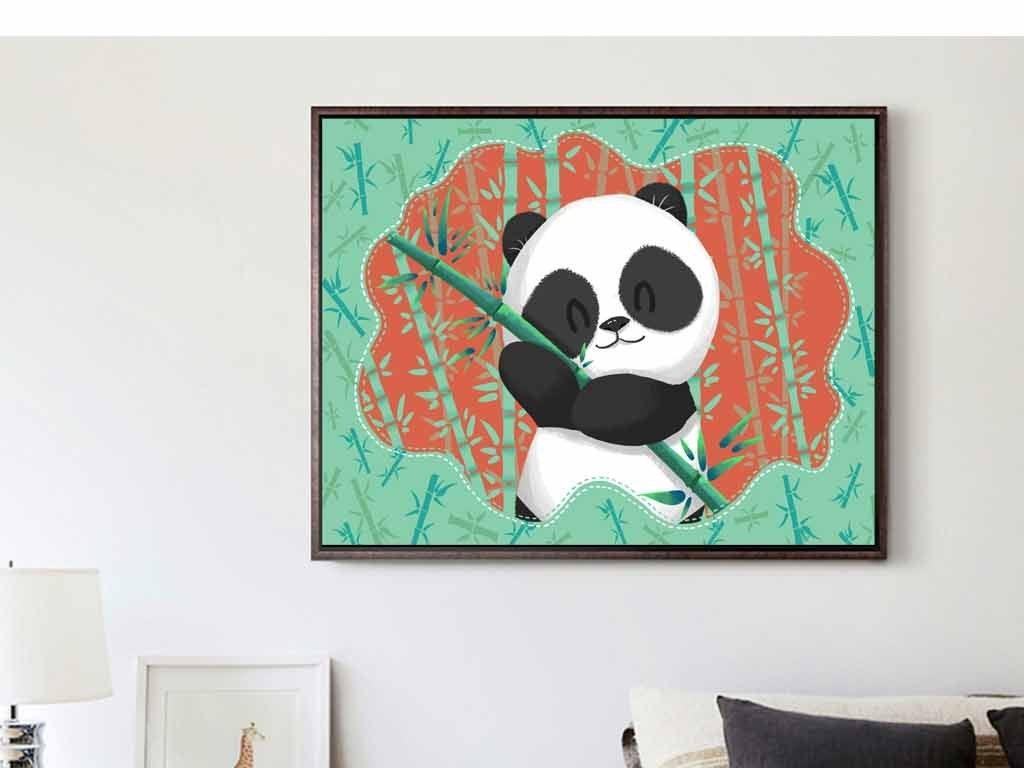 大熊猫熊竹子