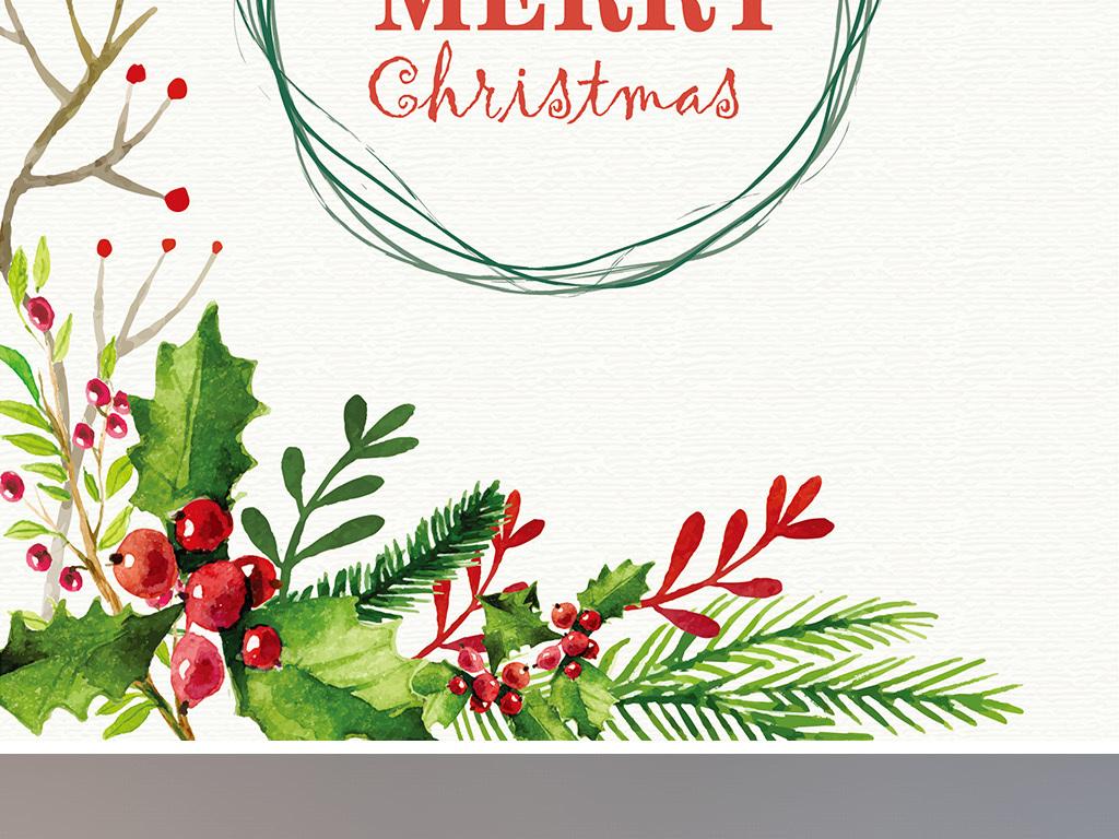 矢量文艺圣诞节贺卡展板海报模板圣诞节圣诞节背景