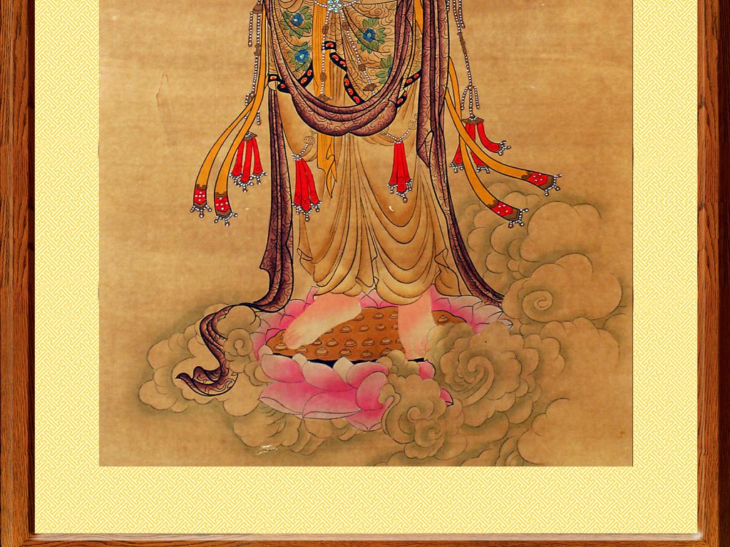 高清送子观音菩萨佛像