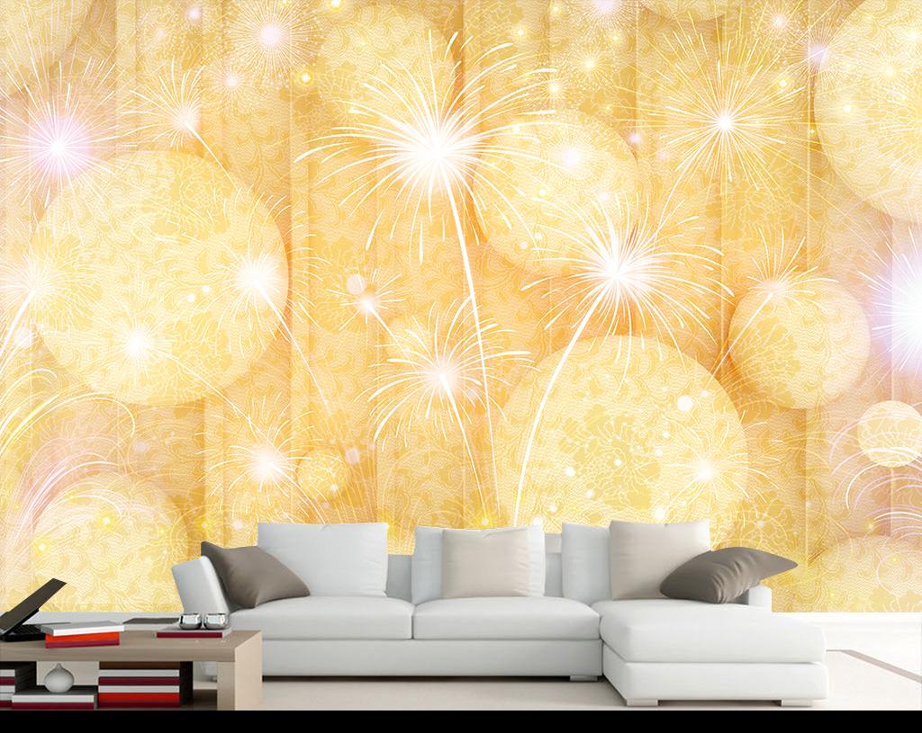 背景墙|装饰画 电视背景墙 客厅电视背景墙 > 3d立体圆璀璨绚丽烟花
