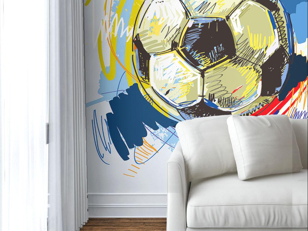 手绘涂鸦电视背景墙壁纸图片电视背景墙壁纸墙纸壁纸