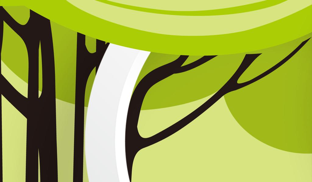 时尚手绘大树3d电视背景墙