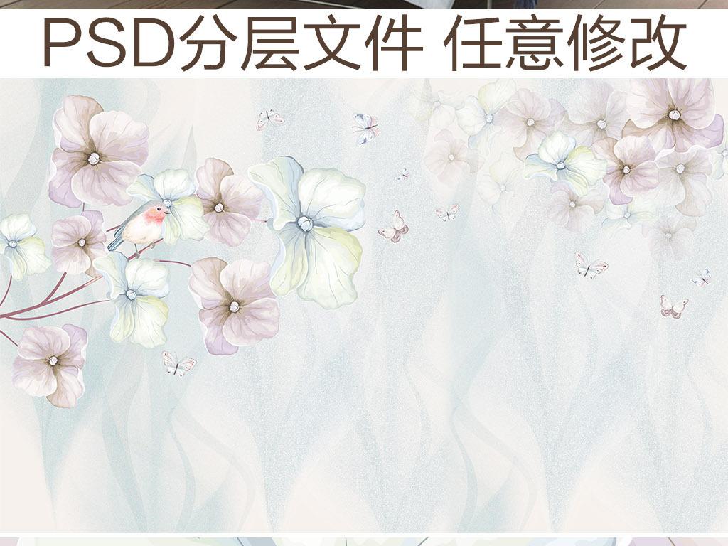 文艺小清新手绘花朵