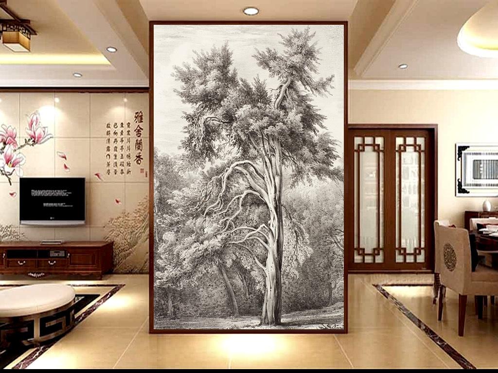手绘素描家庭树玄关(图片编号:15839397)_油画|立体