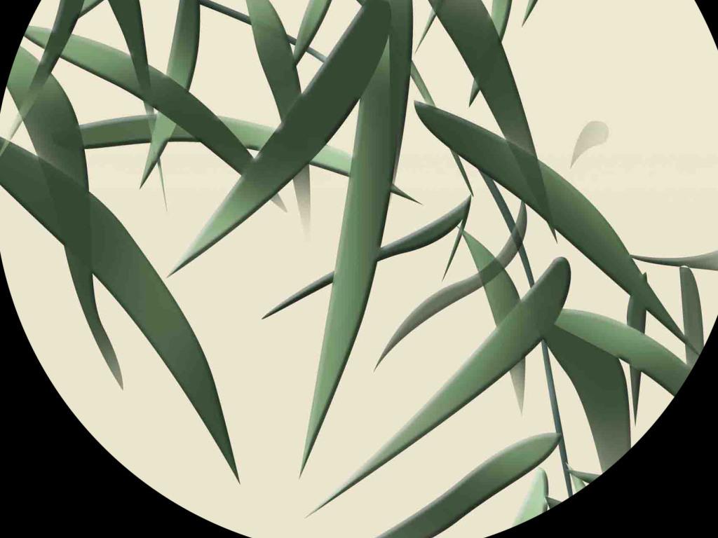 浮雕手绘竹子
