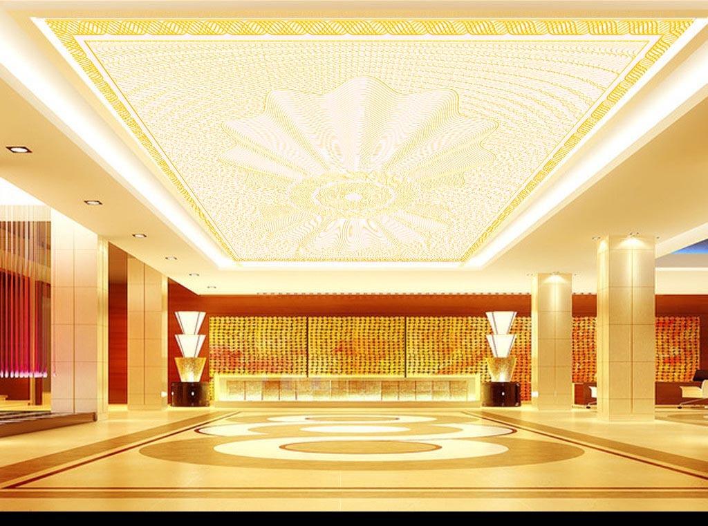 欧式现代简约地毯天花吊顶电视背景墙