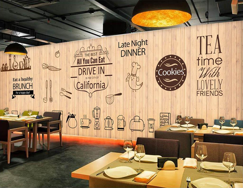 餐厅披萨店美食披萨面包店时尚美食背景木板酒吧背景时尚背景欧美背景