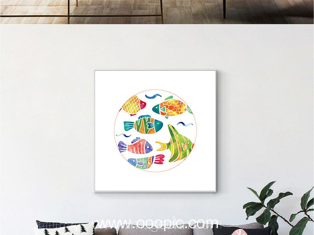 彩铅手绘大海边框