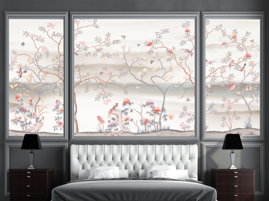 手绘花鸟中式画