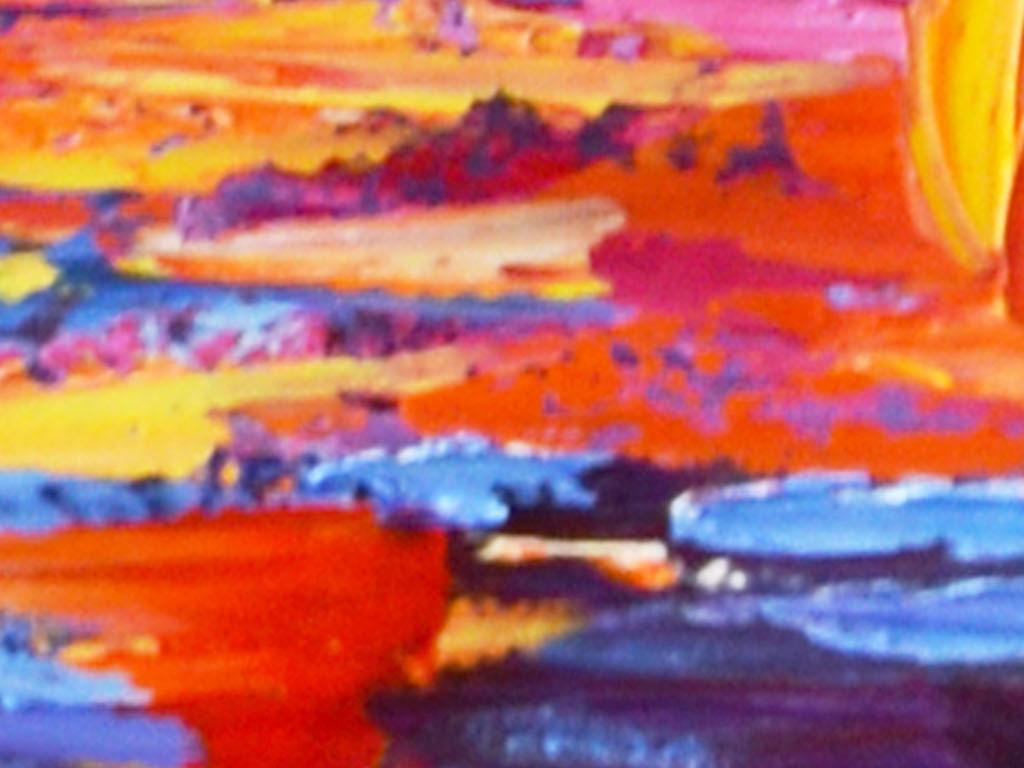 抽象水彩艺术床头画