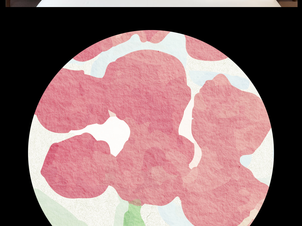 现代简约水彩手绘小清新森系装饰画郁金香蕨类植物叶子小草花园小花