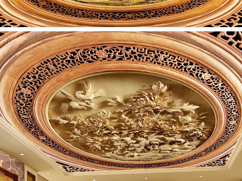 欧式天顶壁画天顶壁画吊顶图中式天顶壁画天顶壁画设