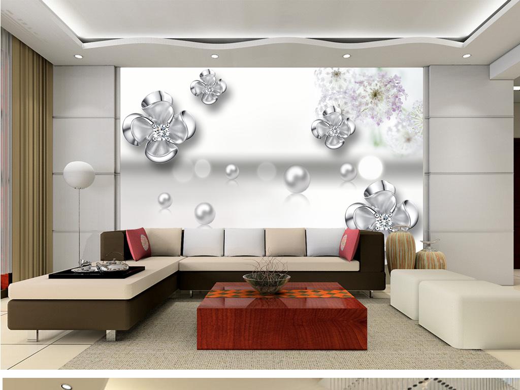 电视背景墙玻璃边框欧式