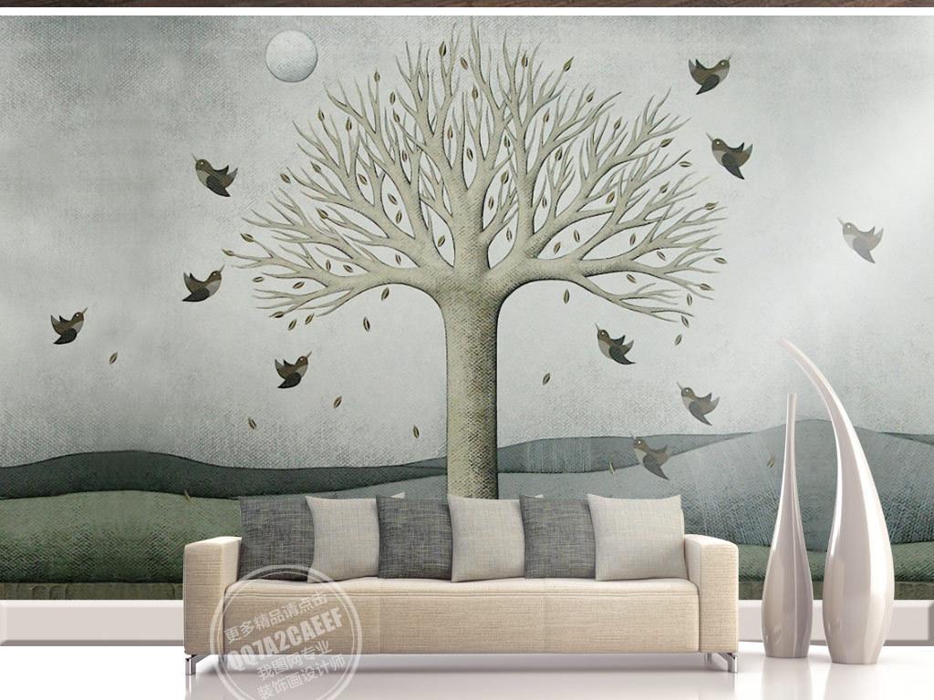 我图网提供精品流行欧式怀旧手绘大树飞鸟风景油画背景墙素材下载,作品模板源文件可以编辑替换,设计作品简介: 欧式怀旧手绘大树飞鸟风景油画背景墙 位图, RGB格式高清大图,使用软件为 Photoshop CS6(.tif不分层)