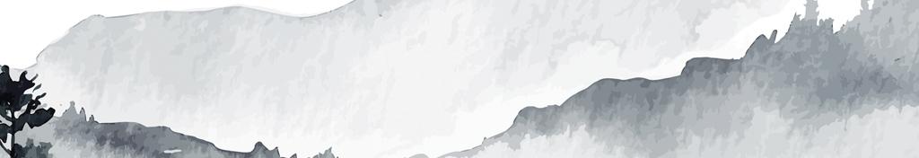大气庞博黑白装饰画水墨画风景画水彩画