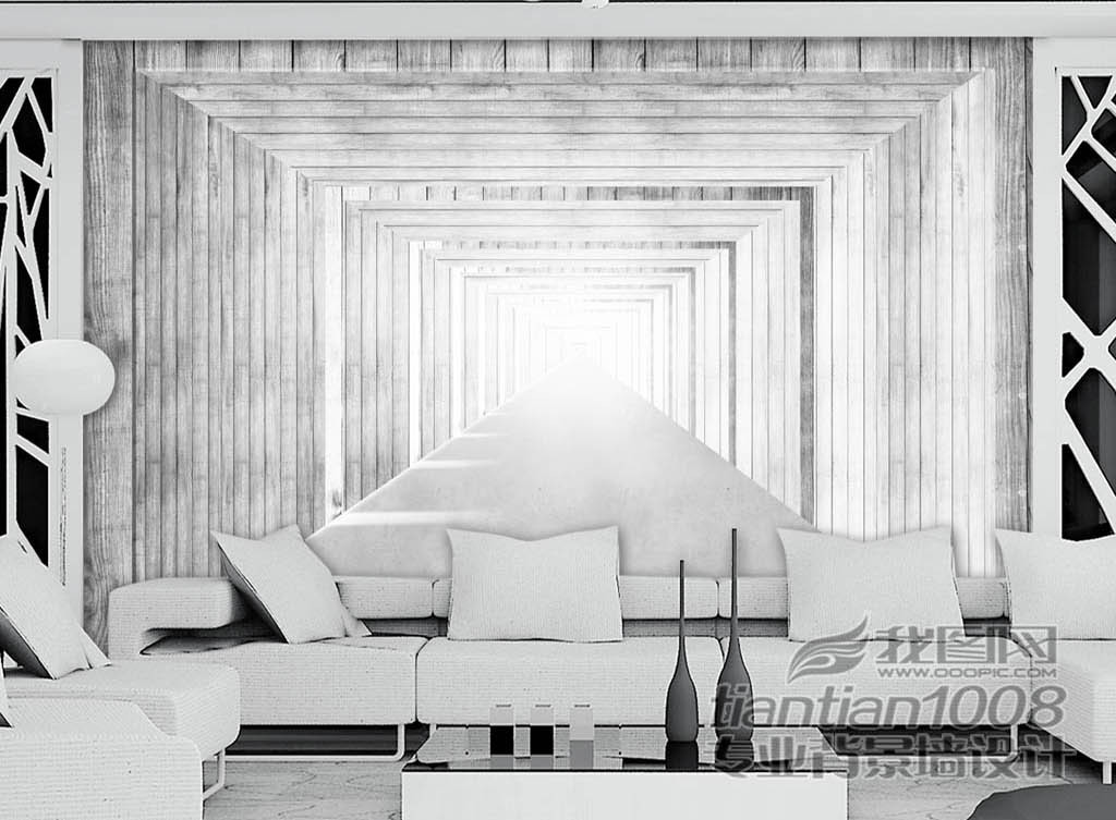 背景墙|装饰画 工装背景墙 酒店|餐饮业装饰背景墙 > 欧美黑白木板