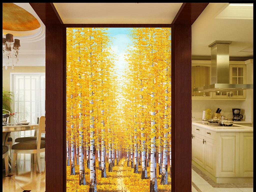 背景墙|装饰画 玄关 油画|立体油画玄关 > 油画风景树林金钱树  版权
