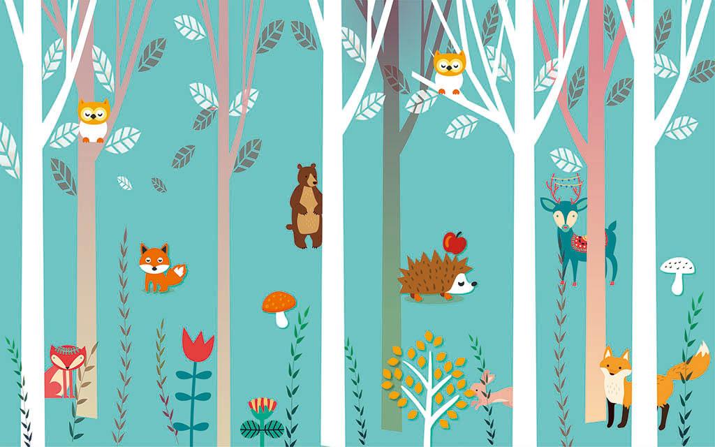 我图网提供精品流行卡通森林动物儿童房背景墙素材下载,作品模板源文件可以编辑替换,设计作品简介: 卡通森林动物儿童房背景墙 矢量图, CMYK格式高清大图,使用软件为 CorelDRAW X7(.cdr) 卡通