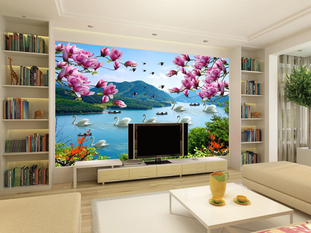 欧式石材电视背景墙
