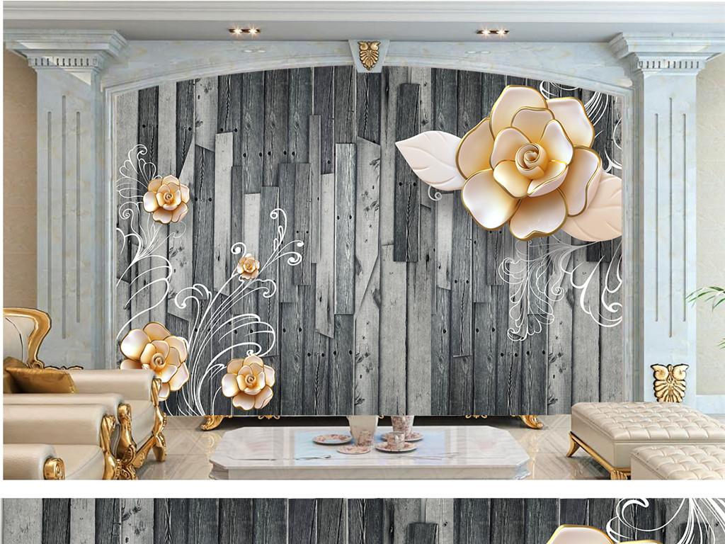 木板装饰墙欧式图片大全