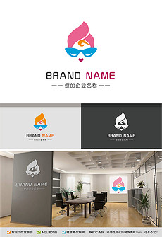 时尚女<strong>人头</strong>logo优雅品牌活力标志设计
