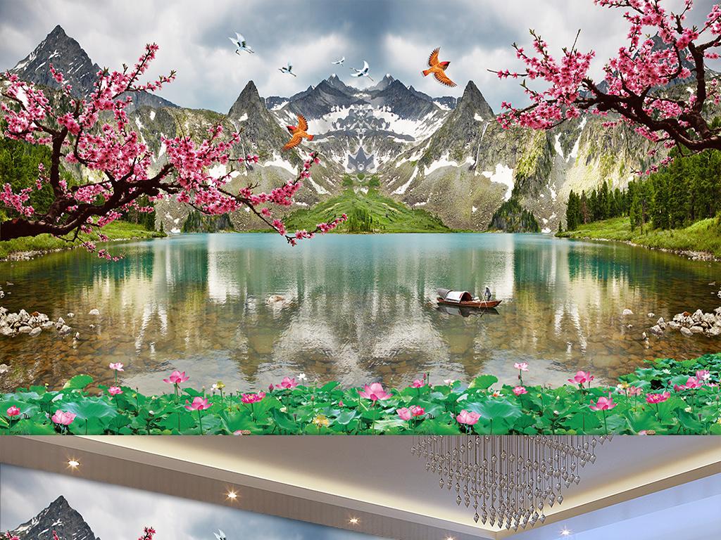 梅花山水风景图片