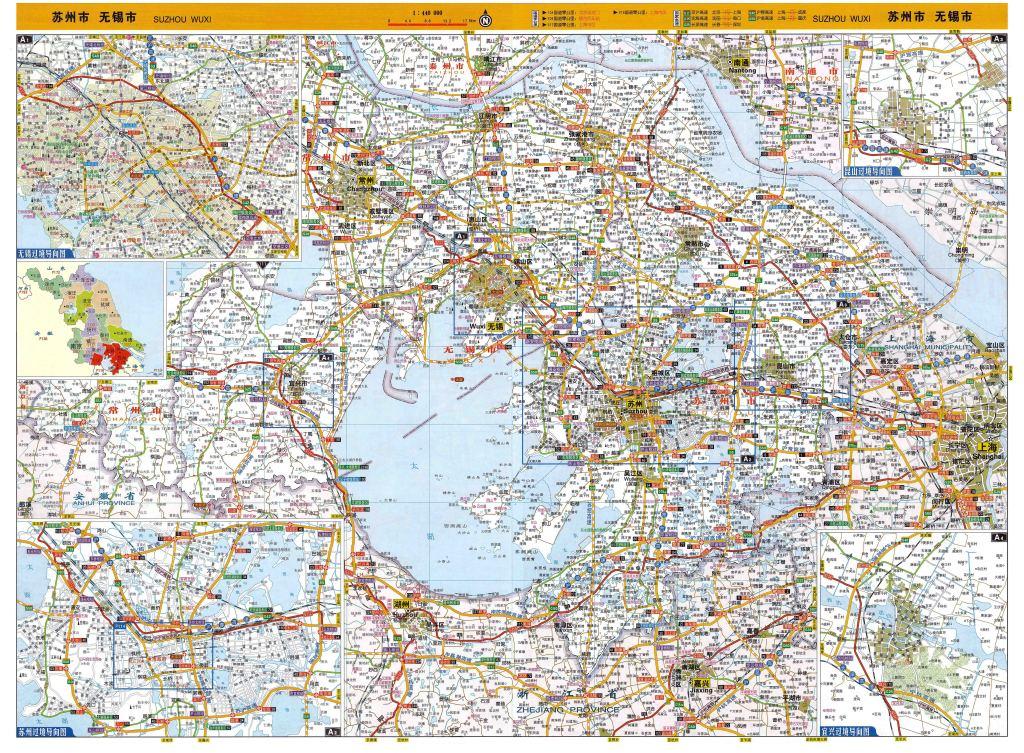 苏州市地图无锡市地图