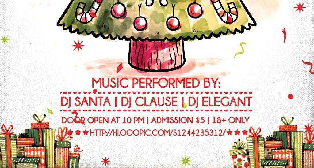 淡彩手绘卡通圣诞节儿童活动宣传海报