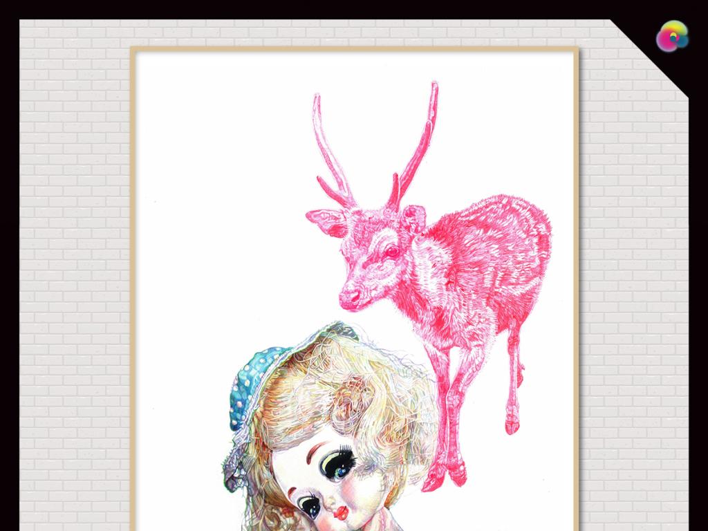粉色                                  小女孩