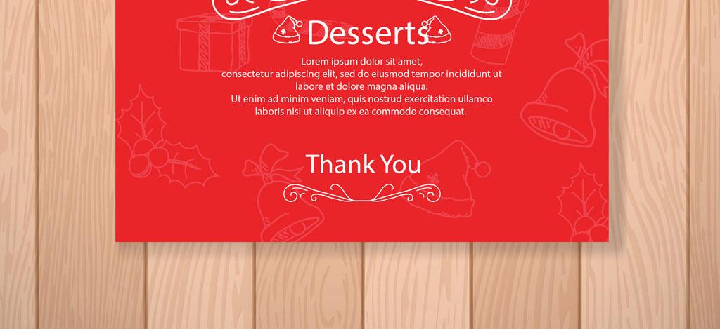 甜品菜谱高档菜单海报背景红色圣诞菜单圣诞模板红色模板淘宝素材淘宝